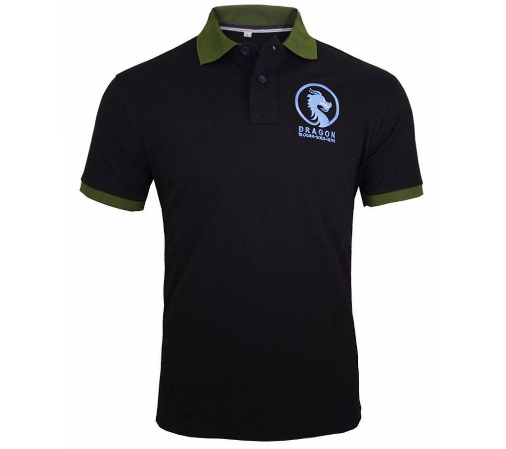 Black gents polo shirt