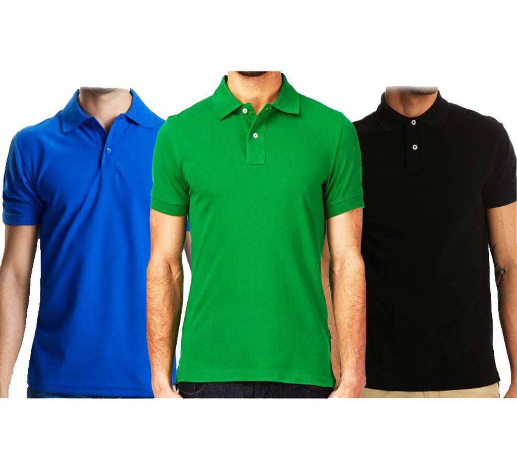Half Sleeve Gents Polo Shirt - 3 pieces Combo Offer